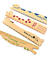 Симпатичные животные деревянные модели линейки (случайный цвет)