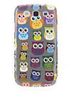 Cartoon Design Owl Pattern Hard Case for Samsung Galaxy S3 I9300