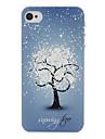 étui rigide de motif de fleur de neige pour iphone 7 7 plus 6s 6 plus soi 5s 5c 5 4s 4