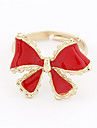 Alloy Acrylic Bowknot Pattern Ring (Assorted Colors)