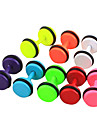 Eruner®6mm Candy Color Titanium Steel Dumbbell Pattern Earrings(Assorted Colors)