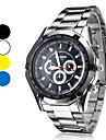 Masculino Relógio Elegante Quartzo Lega Banda Prata Branco Preto Amarelo Azul