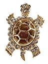 tartaruga em forma de broche de diamante das mulheres