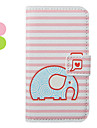 Cartoon Elephant Pattern Leather Hard Case for iPhone 4/4S(Assorted Colors)