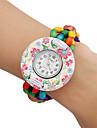 Женские деревянные аналоговые кварцевые часы-браслет (разноцветные)