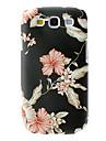 Élégant étui rigide de motif de fleur de conception pour Samsung Galaxy S3 I9300