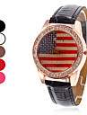 Америка Женские флаг дизайн PU Аналоговые кварцевые наручные часы (разных цветов)