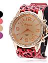 Leopard style PU quartz analogique montre-bracelet des femmes (couleurs assorties)