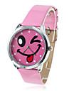 아가씨들 패션 시계 손목 시계 석영 밴드 빈티지 핑크 상표