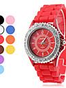 Женские Модные часы Повседневные часы Кварцевый силиконовый Группа БлестящиеЧерный Белый Синий Красный Оранжевый Коричневый Розовый