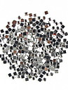 1000PCS Square Shaped Rhinestone Nail Art Decoration 2mm Transparent