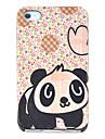 아이폰 4/4s를위한 만화 팬더 꽃 패턴 하드 케이스
