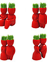 Red Couple Style DIY Growing Grass Planting Doll (Assorted Patterns)