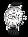 Мужские аналоговые авто-механические наручные часы с календарем и силиконовым ремешком (разные цвета)