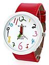 Женские Модные часы Кварцевый PU Группа Мультфильмы Красный