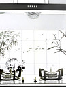 90x60cm Wash Drawing Style Oil-Proof Water-Proof Kitchen Wall Sticker
