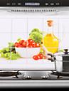 75x45cm Vegetables Pattern Oil-Proof Water-Proof Kitchen Wall Sticker