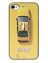 New York Taxi Pattern Back Case for iPhone 4/4S