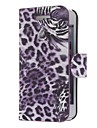 Tiger Pattern sarja PU Leather Case Full Body para iPhone 5 (Opcional Cores)