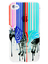 PC Zebra Pattern Hard Case for iPhone 5/5S