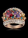 L'arrivée de nouveaux nobles multicolores de Zircon Bagues de fiançailles avec 18K Rose Gold Plate & Cristaux tchèque bijoux de mariage