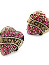 Stud Earrings Simulated Diamond Alloy Heart Fashion Heart Jewelry Daily