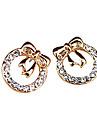 반 성공 다이아몬드 하트 모양의 복숭아 심혼 활 다이아몬드 귀걸이의 전체 한국어 보석 (무작위 색깔)