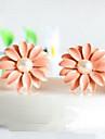작은 데이지 꽃 귀걸이 귀걸이 폭발 모델 E9의 일본어와 한국어 버전 피어스 핑크 바람 모델