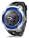 Men's Multi-Function Analog-Digital Round Dial Rubber Band Sporty Wrist Watch (Assorted Colors)