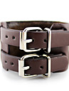 Alloy Multilayers Belt Buckle Leather Coffee Bracelet(1 piece)