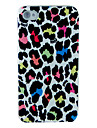 Leopard Print Dull Polish Embossment Back Case for iPhone 4/4S