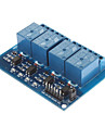 DC 5V 4-Channel Relay Module With Optocoupler For Arduino PIC ARM AVR DSP