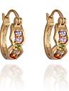 Gold plated bronze zircon Earrings ER0247