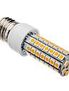 7W E26/E27 LED Corn Lights T 63 SMD 5050 620-640 lm Warm White AC 220-240 V