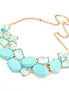 Women's Crystal Pendant Necklace  -  Fashion Green Blue Pink Necklace For Wedding Party Special Occasion
