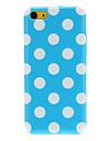 Ordinary Designed Round Dots Pattern TPU Case for iPhone 5C (Assorted Colors)
