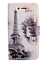 Colored Drawing Forest Tower Leather Full Body Case for iPhone 4/4S