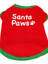 Dog Shirt / T-Shirt Dog Clothes Letter & Number Red