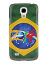 Для Кейс для  Samsung Galaxy С узором Кейс для Задняя крышка Кейс для Флаг PC Samsung S4 Mini