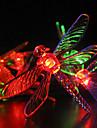 Solar Garden Lights 30 Multi Colorful Dragonfly LED Solar Lights