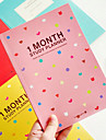 Dazzle Cor Notebook Planejamento Mensal (cor aleatória)