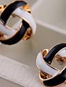 Boucle Forme de Fleur Boucles d'oreille goujon Bijoux Mariage / Soirée / Quotidien Alliage Femme Noir et blanc
