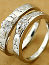 серебряную свадьбу пары кольца (случайный цвет, пара)