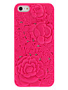 For iPhone 5 Case Shockproof / Embossed Case Back Cover Case Flower Hard PC iPhone SE/5s/5