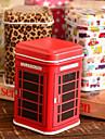 Caja de la lata caja de almacenamiento de escritorio de dibujos animados Cuboid (color al azar)