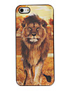 3D Effect Tiger and Lion Protective Back Case Cover for iPhone 5/5S