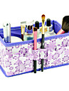 αναδίπλωση μοτίβο λουλούδι καλλυντικά τετράγωνη γλάστρα πινέλο μακιγιάζ κουτί περίπτερο διοργανωτής αποθήκευσης (3 χρώμα επιλέξετε