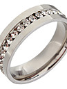 (1pc) Femmes classiques Transparent strass Band Ring