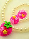 Européenne White Pearl (Bracelets & Bangles & Ring & Colliers) Bijoux en perles Sets