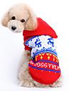 Kočka Pes svetry mikiny Oblečení pro psy Sob Červená Vlna Kostým Pro Jaro & podzim Zima Pánské Dámské Vánoce